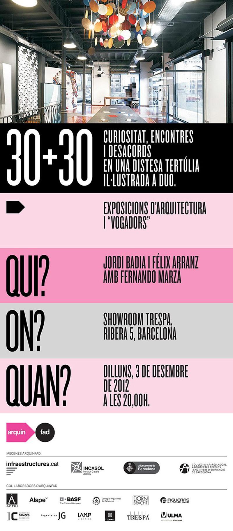 30+30 exposiciones de arquitectura y vogadors.