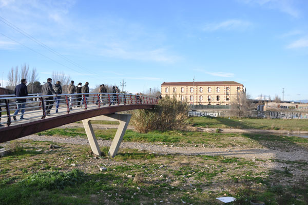 Visita que realizaron los alumnos al lugar del proyecto