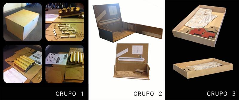 Maquetas de los 3 grupos.