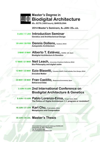 2014 Master's Seminars