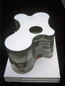 Model for the Cottbus University Library, Cottbus, Germany, 1997  Photo © Herzog & de Meuron