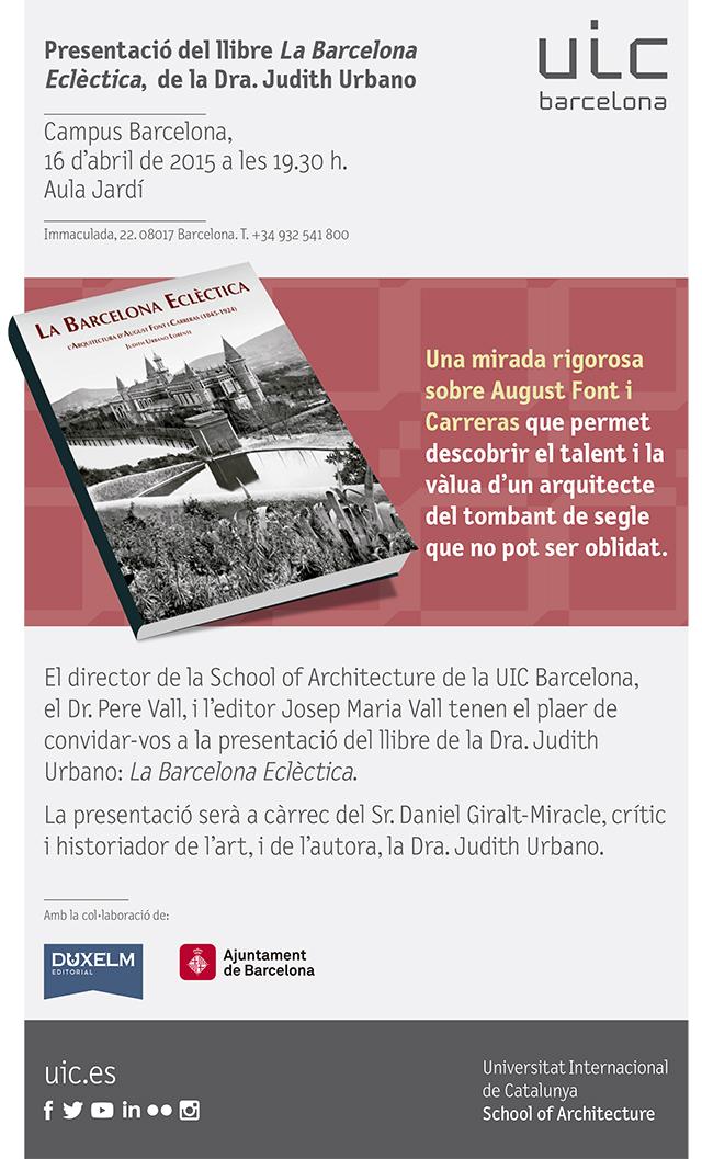 ESARQ Presentacio? del llibre_Judith Urbano