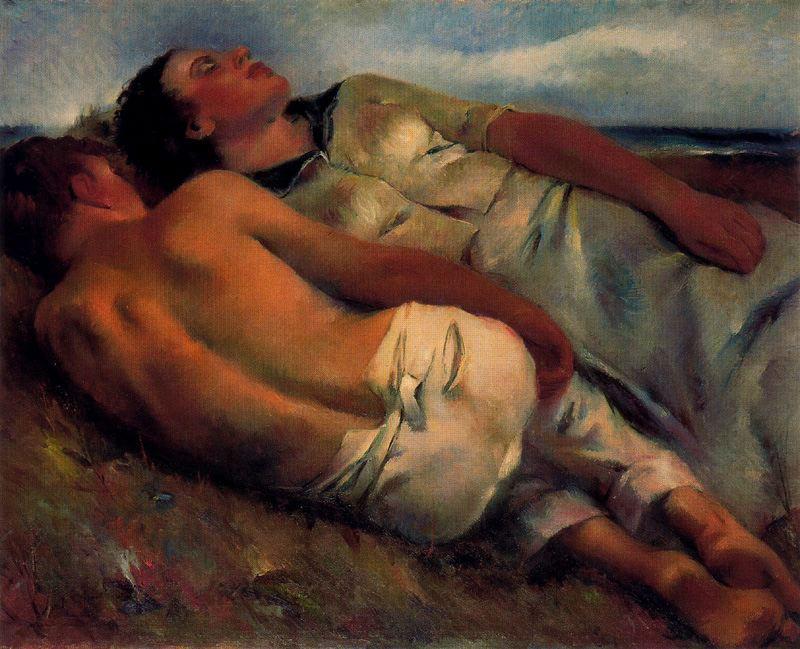 La siesta. 1942. Colección Museo de Bellas Artes de Bilbao.