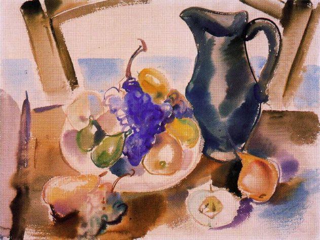 Bodegón I (Jarrón y frutas). 1939. Aquarel-la sobre paper. 47.5 x 63 cm. Colección Museo Nacional Centro de Arte Reina Sofía. Madrid