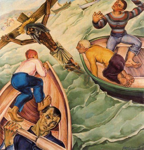 El milagro del Cristo del Grao. 1930. Oli sobre tela. 100 x 81 cm. Colección particular. Manises. València.