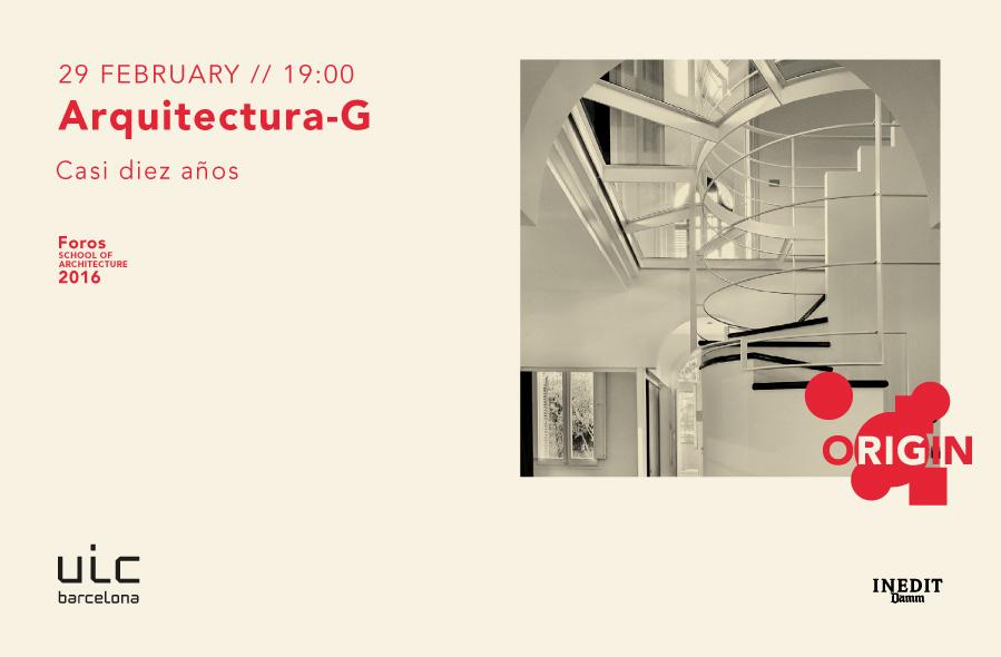 Foros 2016: Arquitectura-G