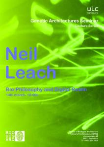Genetic Architectures Series: Neil Leach