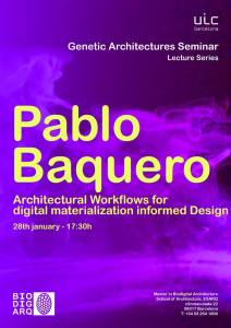 Genetic Architectures Series: Judith Urbano: Pablo Baquero
