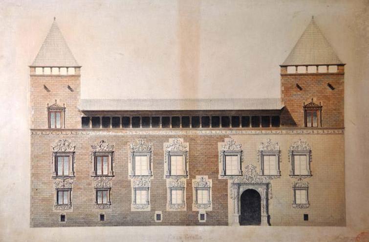 Dibuix de la casa Gralla Joan Fatjó, 1889-90