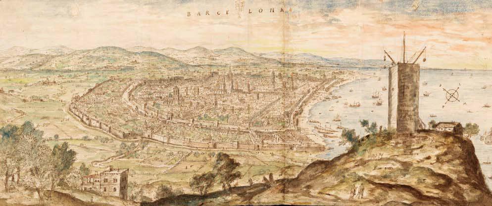 Barcelona l'any 1563, per Antoon Van den Wijngaerde