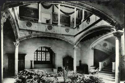 Planta baixa del pati de la casa Gralla reconstruït a la finca dels Brusi a Sant Gervasi