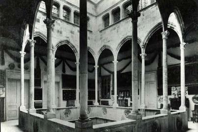 Planta pis del pati de la casa Gralla reconstruït a la finca dels Brusi a Sant Gervasi
