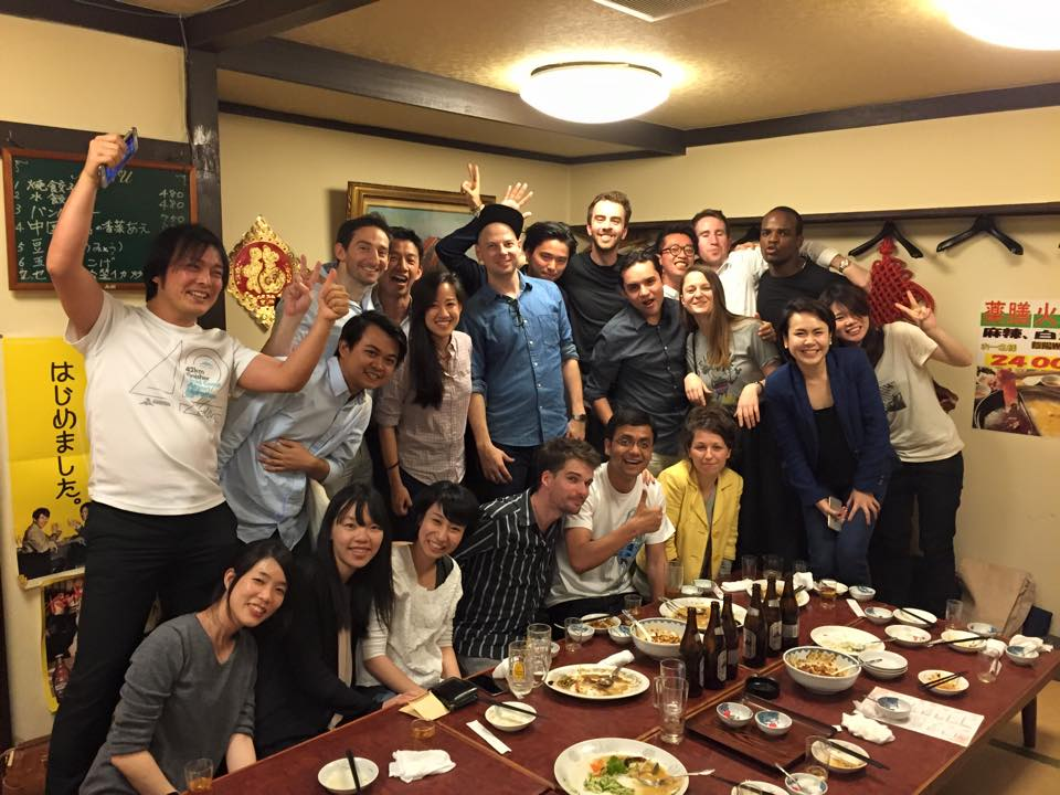 International team dinner - Tokyo